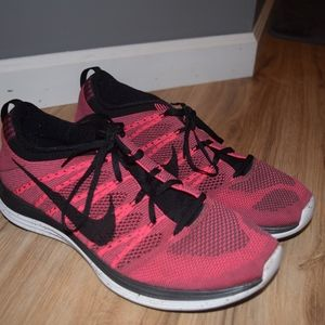 Size 11.5 Pink Nike Flyknit One Athletic Shoes
